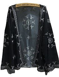 お買い得  -女性用 コート - ボヘミアン 幾何学模様 プリント