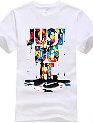 baratos -Homens Camiseta Moda de Rua Letra