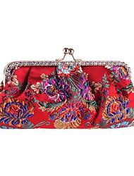 abordables -Femme Sacs Polyester Sac de soirée Billes / Détail Cristal Noir / Rouge