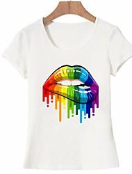 cheap -Women's Basic T-shirt - Portrait Print