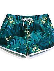 cheap -Women's Swim Shorts Ultra Light (UL), Quick Dry, Water Repellent POLY Swimwear Beach Wear Board Shorts / Bottoms Floral / Botanical Surfing / Beach / Watersports