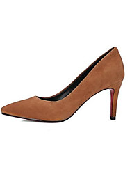 cheap -Women's Shoes Suede Spring & Summer Basic Pump Heels Stiletto Heel Pointed Toe Black / Beige / Light Brown