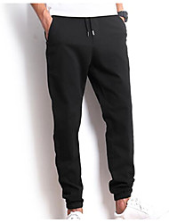 cheap -Men's Jeans Pants - Solid Colored Pleated