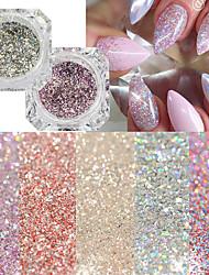 baratos -22pcs Dicas de unhas artificiais Purpurina Design Moderno arte de unha Manicure e pedicure Retro Festa de Casamento / Roupa Diária