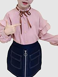 cheap -Kids Girls' Striped Long Sleeve Shirt