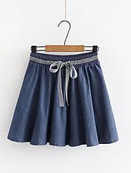 billige -Dame Kroge til store fisk Nederdele - I-byen-tøj Ensfarvet