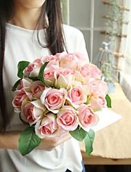 abordables -Fleurs artificielles 11 Une succursale Classique Mariage / Fleurs de mariage Roses Fleur de Table