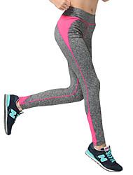 baratos -Mulheres Patchwork Calças de Yoga - Amarelo, Vermelho Rosa, Azul Céu Esportes Calças Pilates, Exercício e Atividade Física, Corrida Tamanhos Grandes Roupas Esportivas Secagem Rápida, Respirável