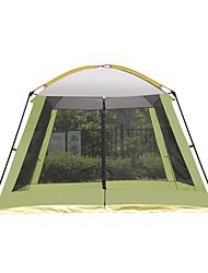 Недорогие -8 человек Палатка с экраном от солнца Дом с экраном от солнца На открытом воздухе Устойчивость к УФ Дожденепроницаемый Воздухопроницаемость Однослойный Карниза Палатка 2000-3000 mm для