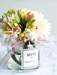 baratos -Flores artificiais 1 Ramo Clássico / Solteiro (L150 cm x C200 cm) Estiloso Girassóis Flor de Mesa