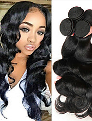 cheap -Peruvian Hair Body Wave Gifts / Cosplay Suits / Natural Color Hair Weaves 4 Bundles 8-28 inch Human Hair Weaves Soft / Best Quality / Hot Sale Natural Color Human Hair Extensions Women's
