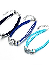 cheap -Stylish Ankle Bracelet - Tree of Life Statement Black / Blue / Light Blue For Going out Bikini Women's