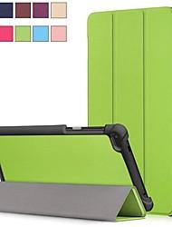 Недорогие -Кейс для Назначение Lenovo Lenovo Tab 7 со стендом / Магнитный Чехол Однотонный Твердый Кожа PU