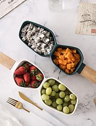 Недорогие -1 ед. Глубокие тарелки Стеклянная посуда Миски и бутылки с водой посуда Фарфор Керамика Дерево Новый дизайн Креатив