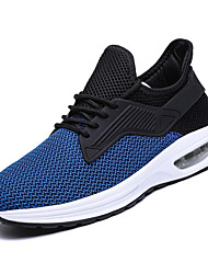 cheap -Men's Canvas / Elastic Fabric Summer Comfort Athletic Shoes Running Shoes Color Block Dark Grey / Light Grey / Black / Blue