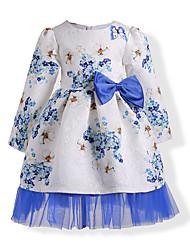 abordables -Niños Chica Margarita Floral Manga Larga Vestido