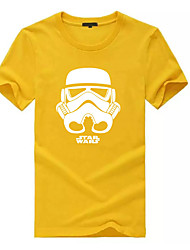 cheap -Men's Cotton T-shirt - Graphic Print Round Neck / Short Sleeve