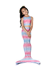cheap -The Little Mermaid Swimwear / Bikini / Costume Girls' Halloween / Carnival Festival / Holiday Halloween Costumes Pink Vintage Mermaid and Trumpet Gown Slip / Bikini