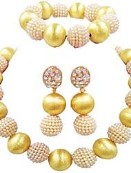 economico -Per donna Filo singolo Parure di gioielli - Palla Di tendenza Includere Braccialetti del filo Blu / Rosa / Rosa intenso Per Matrimonio