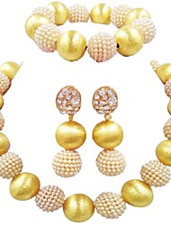 cheap -Women's Single Strand Jewelry Set - Ball Fashion Include Strand Bracelet Blue / Pink / Hot Pink For Wedding