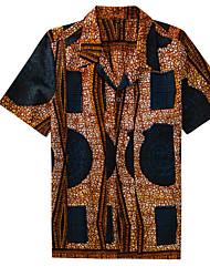 cheap -women's / men's shirt - geometric shirt collar