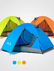 baratos -2 Pessoas Barracas de Acampar Leves Dupla Camada Poste Barraca de acampamento Ao ar livre Á Prova-de-Chuva, A Prova de Vento, Resistente aos raios UV para Campismo / Escursão / Espeleologismo