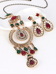 cheap -Women's Retro / Stylish Jewelry Set - Creative Stylish, European Include Drop Earrings / Necklace Red For Wedding / Daily