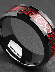 Недорогие -Муж. Толстая цепь Кольцо - европейский Красный / Зеленый Назначение Повседневные