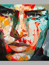 baratos -Pintura a Óleo Pintados à mão - Pessoas Modern Tela de pintura