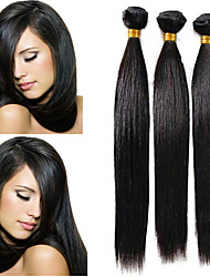 Недорогие -3 Связки Перуанские волосы Прямой 8A Натуральные волосы Пучок волос Накладки из натуральных волос 8-28 дюймовый Естественный цвет Ткет человеческих волос Удлинитель Лучшее качество Горячая распродажа