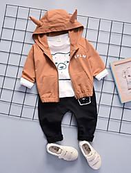 billige -Baby Drenge Trykt mønster Langærmet Tøjsæt