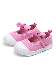 preiswerte -Mädchen Schuhe Leinwand Herbst / Frühling Sommer Komfort Flache Schuhe Walking Schleife / Klettverschluss für Kinder / Baby Purpur / Rot / Rosa / Booties / Stiefeletten / Party & Festivität