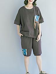 abordables -Mujer Corte Ancho Camisa - Floral Pantalón