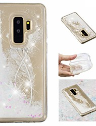 ieftine -Maska Pentru Samsung Galaxy S9 Plus / S9 Scurgere Lichid / Model / Luciu Strălucire Capac Spate Pene / Luciu Strălucire Moale TPU pentru S9 / S9 Plus / S8 Plus