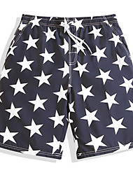 cheap -Men's Swimming Trunks / Swim Shorts Ultra Light (UL), Quick Dry, Breathable POLY Swimwear Beach Wear Board Shorts / Bottoms Stars Surfing / Beach / Watersports