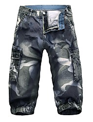 cheap -Men's Chinos Pants - Camouflage Blue & White