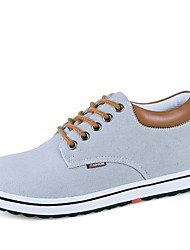 cheap -Men's Canvas Spring &  Fall Comfort Sneakers Gray / Blue / Light Brown