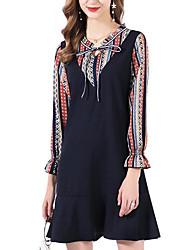 cheap -women's going out a line dress mini v neck