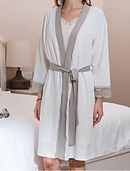 baratos -Qualidade superior Robe de Banho, Sólido Bambu, mistura de algodão / Viscose / Lycra Spandex Banheiro 1 pcs