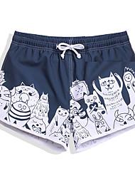 cheap -Women's Swimming Trunks / Swim Shorts Rain-Proof, Ultra Light (UL), Quick Dry POLY Swimwear Beach Wear Board Shorts / Bottoms Cartoon Surfing / Beach / Watersports