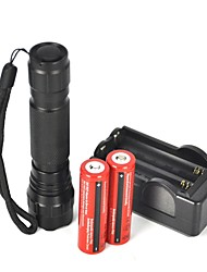 cheap -LED Flashlights / Torch LED 2000 lm 1 Mode Camping / Hiking / Caving / Everyday Use / Cycling / Bike