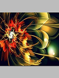 cheap -Print Stretched Canvas Prints - Fantasy / Floral / Botanical Modern