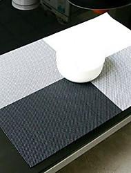 baratos -Moderna PVC Quadrada Marcadores de Lugar Padrão Anti-Aderente / Anti-Roupa / Anti-Estilhaços Decorações de mesa 1 pcs