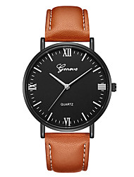cheap -Geneva Women's Wrist Watch Quartz New Design Casual Watch Cool Leather Band Analog Casual Fashion Black / Brown - Brown Black / Silver White / Brown One Year Battery Life