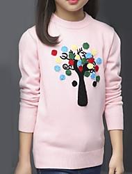 cheap -Kids Girls' Basic Print Long Sleeve Cotton Sweater & Cardigan
