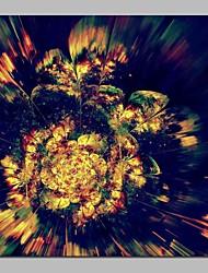 cheap -Print Stretched Canvas Prints - Fantasy / Floral / Botanical Modern