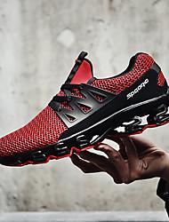 abordables -Homme Chaussures de Course Gomme Course / Running / Jogging Poids Léger, Anti-Shake, Respirabilité Tulle Blanc / Noir / Rouge