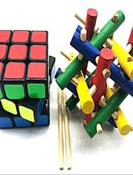 abordables -Rubik's Cube z-cube artisanat du bois Scramble Cube / Floppy Cube 3*3*3 Cube de Vitesse  Cubes de Rubik Casse-tête Cube Soulagement de stress et l'anxiété Soulage ADD, TDAH, Anxiété, Autisme