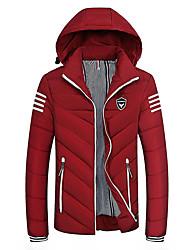 cheap -Men's Padded - Striped Hooded / Long Sleeve