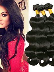 baratos -3 pacotes Cabelo Peruviano Ondulado Não processado / 100% Remy Hair Weave Bundles Presentes / Extensor 8-28 polegada Tramas de cabelo humano Fabrico à Máquina Clássico / Feminino / Natural Natural